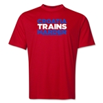 Croatia 2014 FIFA World Cup Brazil(TM) Men's Trains Harder T-Shirt (Red)