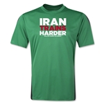 Iran 2014 FIFA World Cup Brazil(TM) Men's Trains Harder T-Shirt (Green)