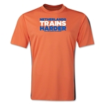 Netherlands 2014 FIFA World Cup Brazil(TM) Men's Trains Harder T-Shirt (Orange)