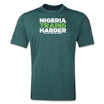 Nigeria 2014 FIFA World Cup Brazil(TM) Men's Trains Harder T-Shirt (Dark Green)
