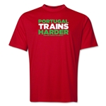 Portugal 2014 FIFA World Cup Brazil(TM) Men's Trains Harder T-Shirt (Red)