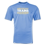 Uruguay 2014 FIFA World Cup Brazil(TM) Men's Trains Harder T-Shirt (Sky)