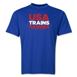 USA 2014 FIFA World Cup Brazil(TM) Men's Trains Harder T-Shirt (Royal)