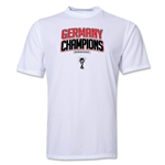 Germany 2014 FIFA World Cup Brazil(TM) Champions Logotype Training T-Shirt (White)