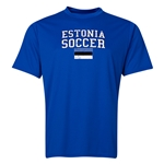 Estonia Soccer Training T-Shirt (Royal)