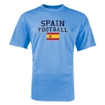 Spain Football Training T-Shirt (Sky)
