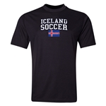Iceland Soccer Training T-Shirt (Black)