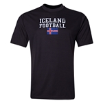 Iceland Football Training T-Shirt (Black)