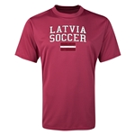 Latvia Soccer Training T-Shirt (Maroon)
