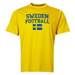 Sweden Football Training T-Shirt (Yellow)