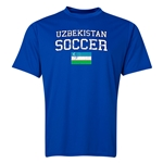 Uzbekistan Soccer Training T-Shirt (Royal)