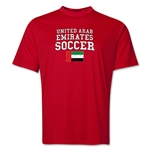United Arab Emirates Soccer Training T-Shirt (Red)