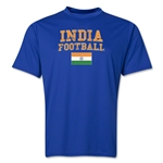 India Football Training T-Shirt (Royal)