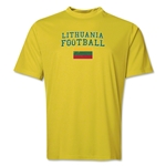Lithuania Football Training T-Shirt (Yellow)