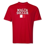 Malta Soccer Training T-Shirt (Red)