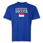 Singapore Soccer Training T-Shirt (Royal)