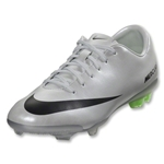 Nike Mercurial Vapor IX FG Junior (Metallic Platinum/Electric Green)