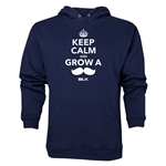 BLK Keep Calm and Grow a Moustache Hoody (Navy)