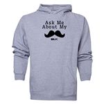 BLK Ask Me About My Moustache Hoody (Ash Gray)