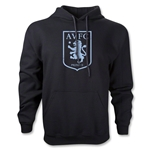 Aston Villa Distressed Club Logo Distressed Hoody (Black)