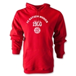 Bayern Munich Distressed Established 1900 Hoody (Red)