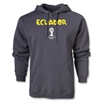 Ecuador 2014 FIFA World Cup Brazil(TM) Men's Core Hoody (Dark Grey)