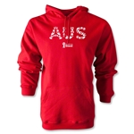 Australia 2014 FIFA World Cup Brazil(TM) Men's Elements Hoody (Red)