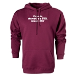 2014 FIFA World Cup Brazil(TM) Portugese Logotype Hoody (Maroon)