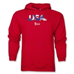 USA 2014 FIFA World Cup Brazil(TM) Men's Palm Hoody (Red)