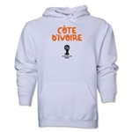 Cote d'Ivoire 2014 FIFA World Cup Brazil(TM) Men's Core Hoody (White)