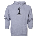 FIFA Club World Cup Morocco 2014 Men's Official Emblem Hoody (Ash)