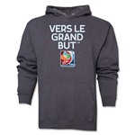 FIFA Women's World Cup Canada 2015(TM).French Slogan Hoody (Dark Grey)