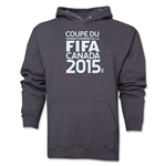 FIFA Women's World Cup Canada 2015(TM).French Logotype Hoody (Dark Grey)