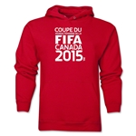 FIFA Women's World Cup Canada 2015(TM).French Logotype Hoody (Red)