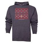 FC Santa Claus Christmas Sweater Men's Hoody (Dark Grey)