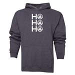 FC Santa Claus Ho, Ho, Ho Men's Hoody (Dark Grey)