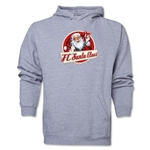 FC Santa Claus Animated Santa Men's Hoody (Ash)