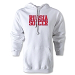 Russia Soccer Supporter Hoody (White)