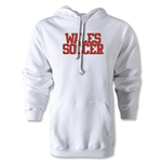 Wales Soccer Supporter Hoody (White)