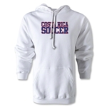 Costa Rica Soccer Supporter Hoody (White)