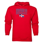 Dominican Republic Football Hoody (Red)