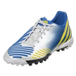 adidas Predator Absolion LZ TRX AG Cleats (White/Prime Blue/Vivid Yellow)