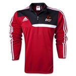 University of Louisville Rugby adidas Training Top (Red/Blk)