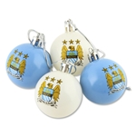 Manchester City Plastic Ball Ornament (4 Pack)