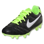 Nike Junior Tiempo Natural FG (Black/Electric Green/White)