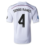 Real Madrid 14/15 SERGIO RAMOS UCL Home Soccer Jersey