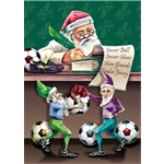 Santa Soccer Christmas List Card