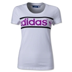 adidas Women's Originals Heritage Logo T-Shirt (White/Pink)