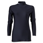 Under Armour Women's ColdGear Compression LS Mock Shirt (Black)