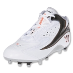 Warrior 2nd Degree Burn-Molded Mid Lacrosse Cleats (White)